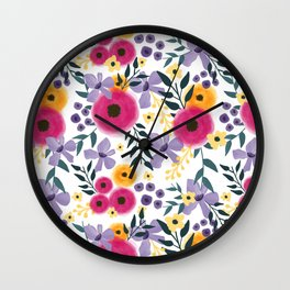 Spring Floral Bouquet Wall Clock