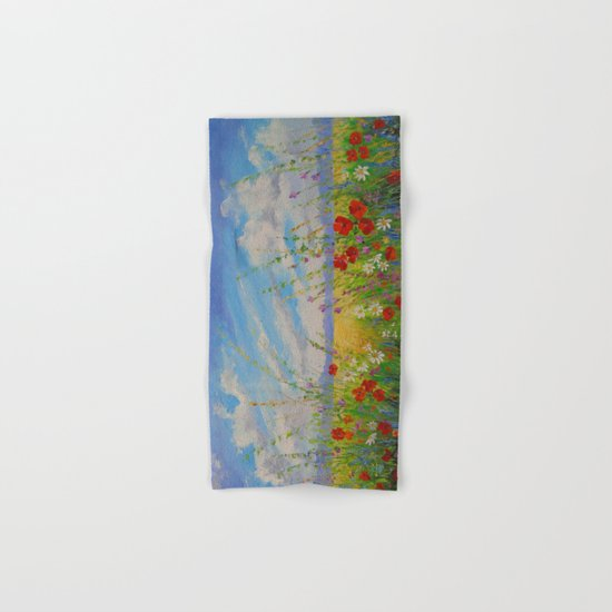 Flowers in a field Hand & Bath Towel