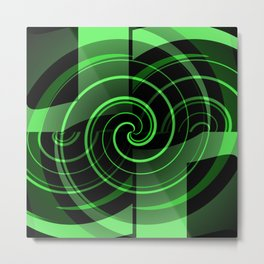 Mint & Licorice Fudge Metal Print