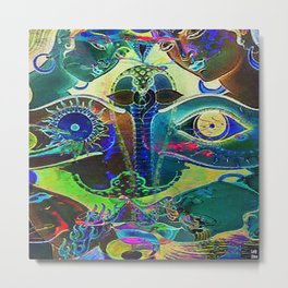 The wisdom of the life is always deeper than the wisdom of the men Metal Print
