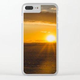 Summer Solstice Sunset, North Dakota 2 Clear iPhone Case