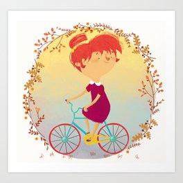 The Girl on the Bike, Art Print