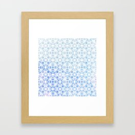 SOFT WATERCOLOR ORNAMENT Framed Art Print