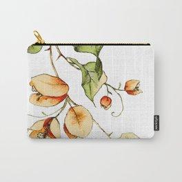 Orange Bougainvillea Illustration Carry-All Pouch
