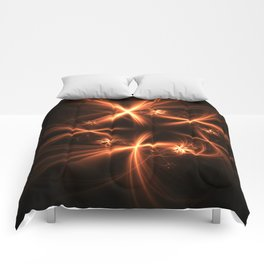 Orange abstract fractal as firework. Holiday theme. Comforters