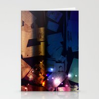 the lights Stationery Cards featuring Lights by Tina Stamatopoulou
