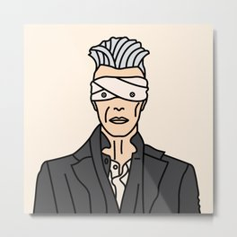 David Bowie – Button Eyes Metal Print