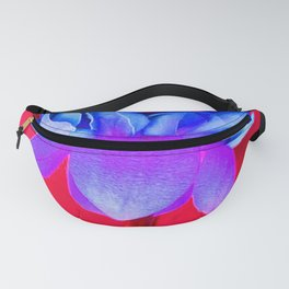 Blue Flower Fanny Pack