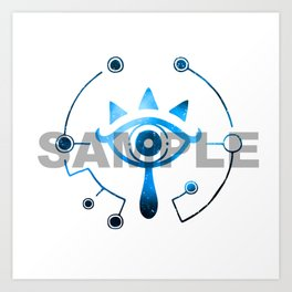 Zelda Sheikah Eye Galaxy Breath Of The Wild Art Print
