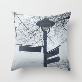 Maplewood - Sign post Throw Pillow