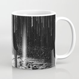 The Kiss in the Snow and Lights in Black and White Coffee Mug