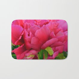 Dark Pink Tree Peony by Teresa Thompson Bath Mat