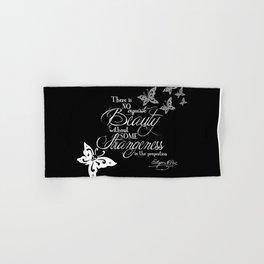 Strange Skullerflies - EA Poe Quote Hand & Bath Towel
