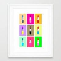 lipstick Framed Art Prints featuring Lipstick by Scout Garbaczewski