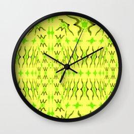 Sand dune pattern yellow Wall Clock