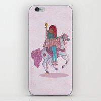carousel iPhone & iPod Skins featuring Carousel by Leigh Wortley