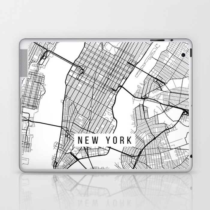 New York On Usa Map.New York City Map Manhattan New York Usa Black White Portrait