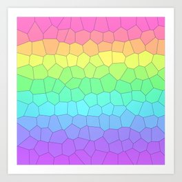 Geometric Rainbow Gradient Art Print