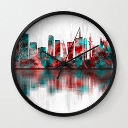 Milan Italy Skyline Wall Clock