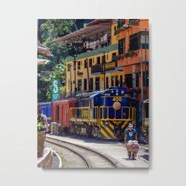 Peru Rail Train - Aguas Calientes Metal Print