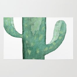 Arizona Mint Cactus on White Rug