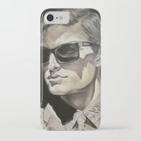 newspaper iPhone & iPod Cases featuring Newspaper Man by Charles Ellison