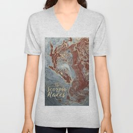 The Scorpio Races - Red as the Sea Unisex V-Neck