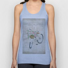 Vintage bicycles with roses basket Unisex Tank Top