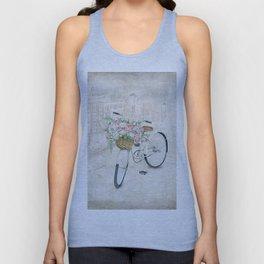 Vintage bicycles with roses basket Unisex Tank Top