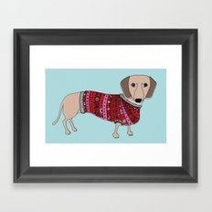 Sausage Dog Framed Art Print