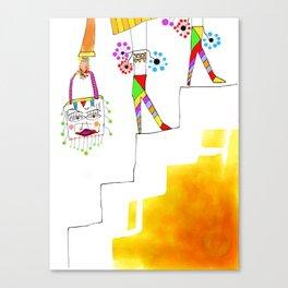 Sheri (stair series) Canvas Print