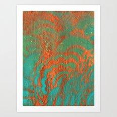 Drawing Meditation: Stencil 1 - Print 10 (orange) Art Print