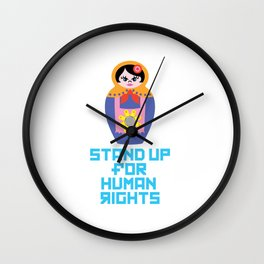 Stand for Human Rights—Female Nesting Doll Wall Clock
