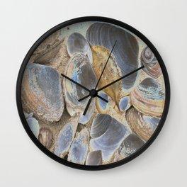 Seashell Abstract Wall Clock