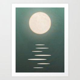 Ocean Moon: Tranquil Night  Art Print