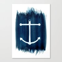 anchor Canvas Prints featuring Anchor by Bridget Davidson