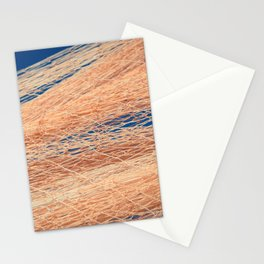 Nylon fishnet texture on the clear sky Stationery Cards
