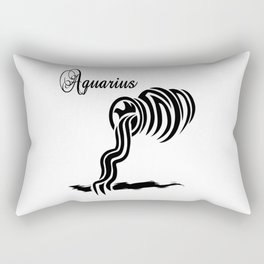 Aquarius Zodiac Water Bearer Rectangular Pillow