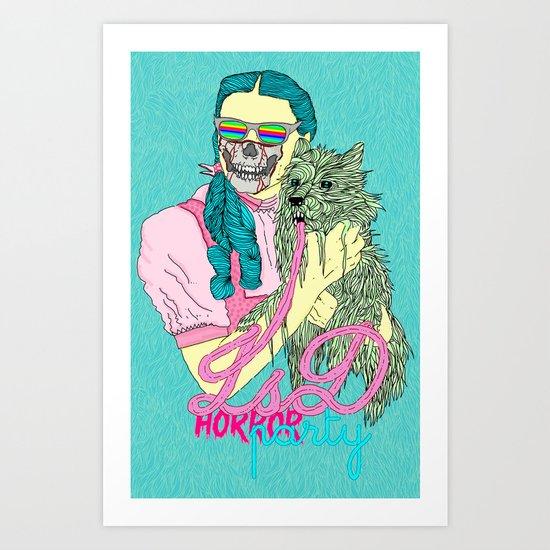 Lsd  horror party Art Print