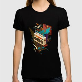 Bust Out The Jams Retro 80s Boombox Splash T-shirt
