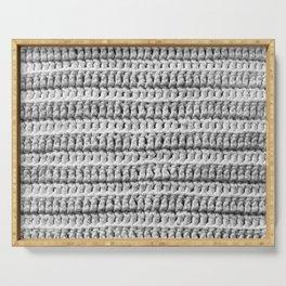 Crochet Texture Serving Tray