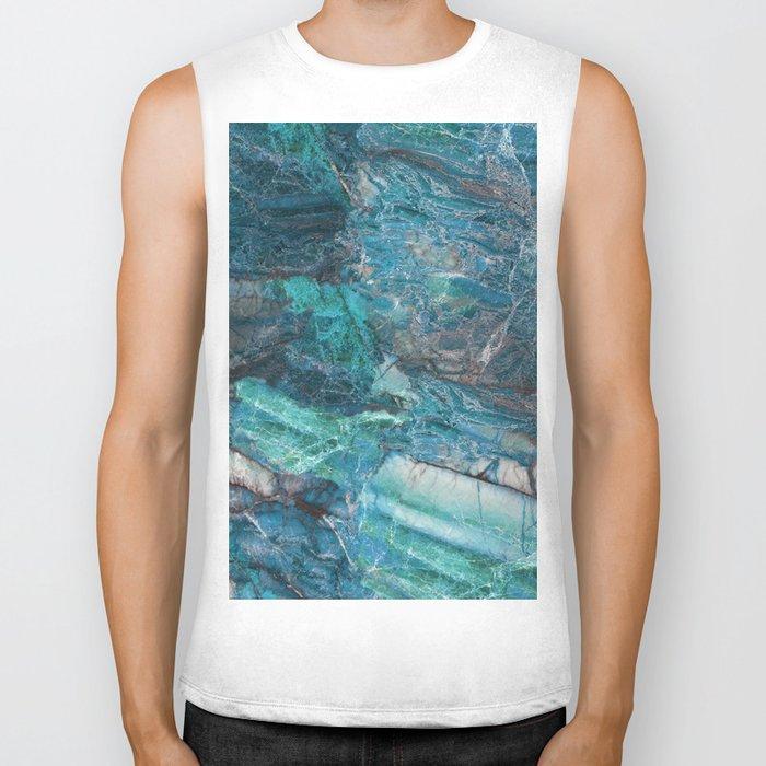 Siena turchese - blue marble Biker Tank