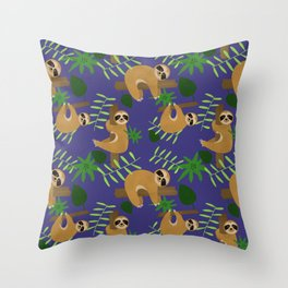 Joyce's Sloths Throw Pillow