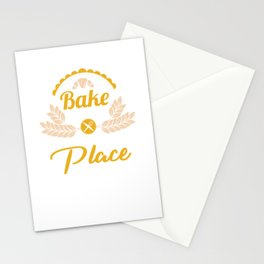 Baking Puns Baker Gifts Bake The World A Better Place Cool Bakery Cooking Tee Stationery Cards
