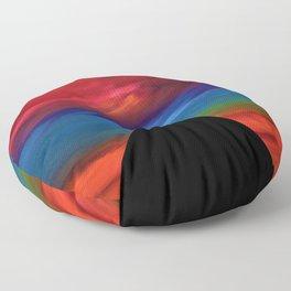 Fire Sky - Pyramids Silhouette Floor Pillow