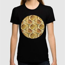 Retro 70's Golden Yellow Daisy Pattern  T-shirt