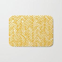 Boho Mudcloth Pattern, Summer Yellow Bath Mat