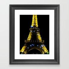 Eiffel Tower at Midnight Framed Art Print