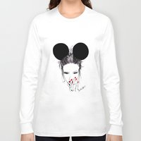 minnie mouse Long Sleeve T-shirts featuring Minnie Mouse by Bella Harris