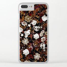 Christmas Garden Clear iPhone Case